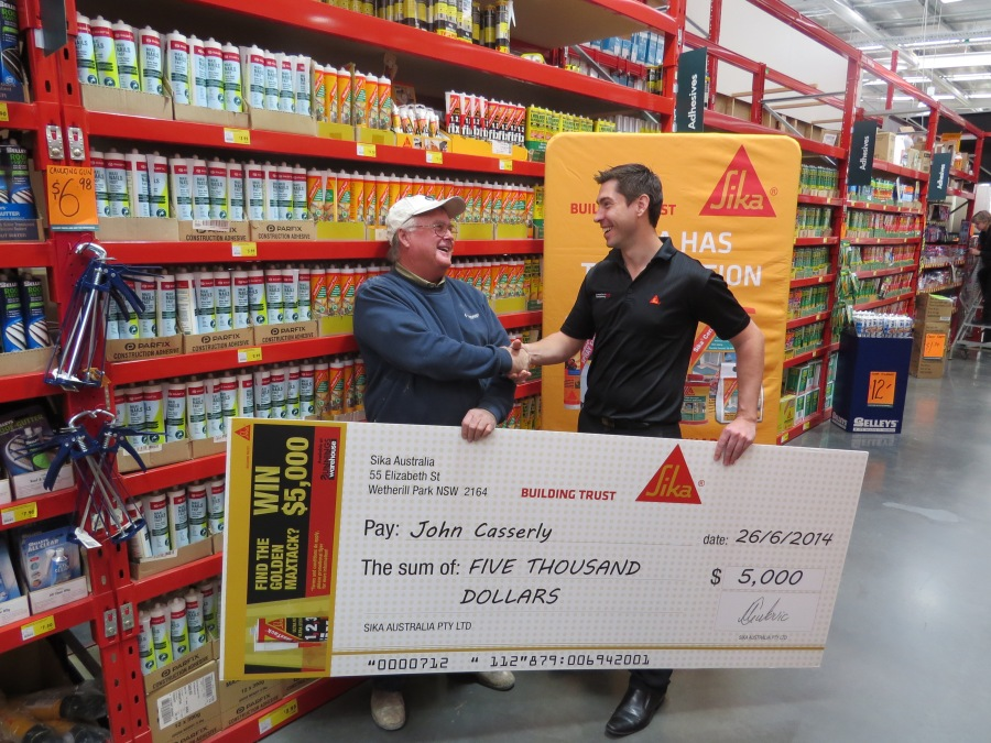 Winner Golden Maxtack Sika Australia