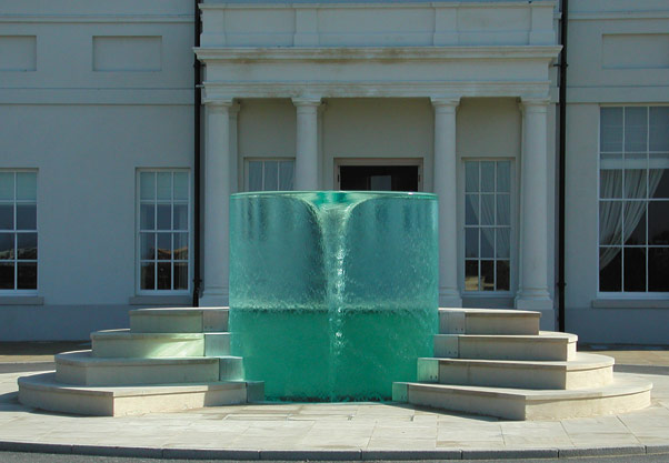 William Pye's Charybdis Water sculpture water fountain water feature at home patio backyard feature