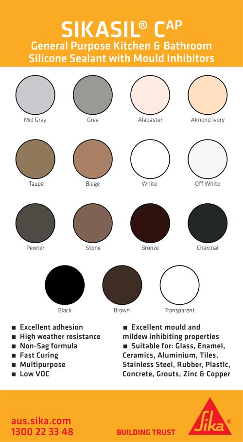 Sikasil CAP Colour Chart