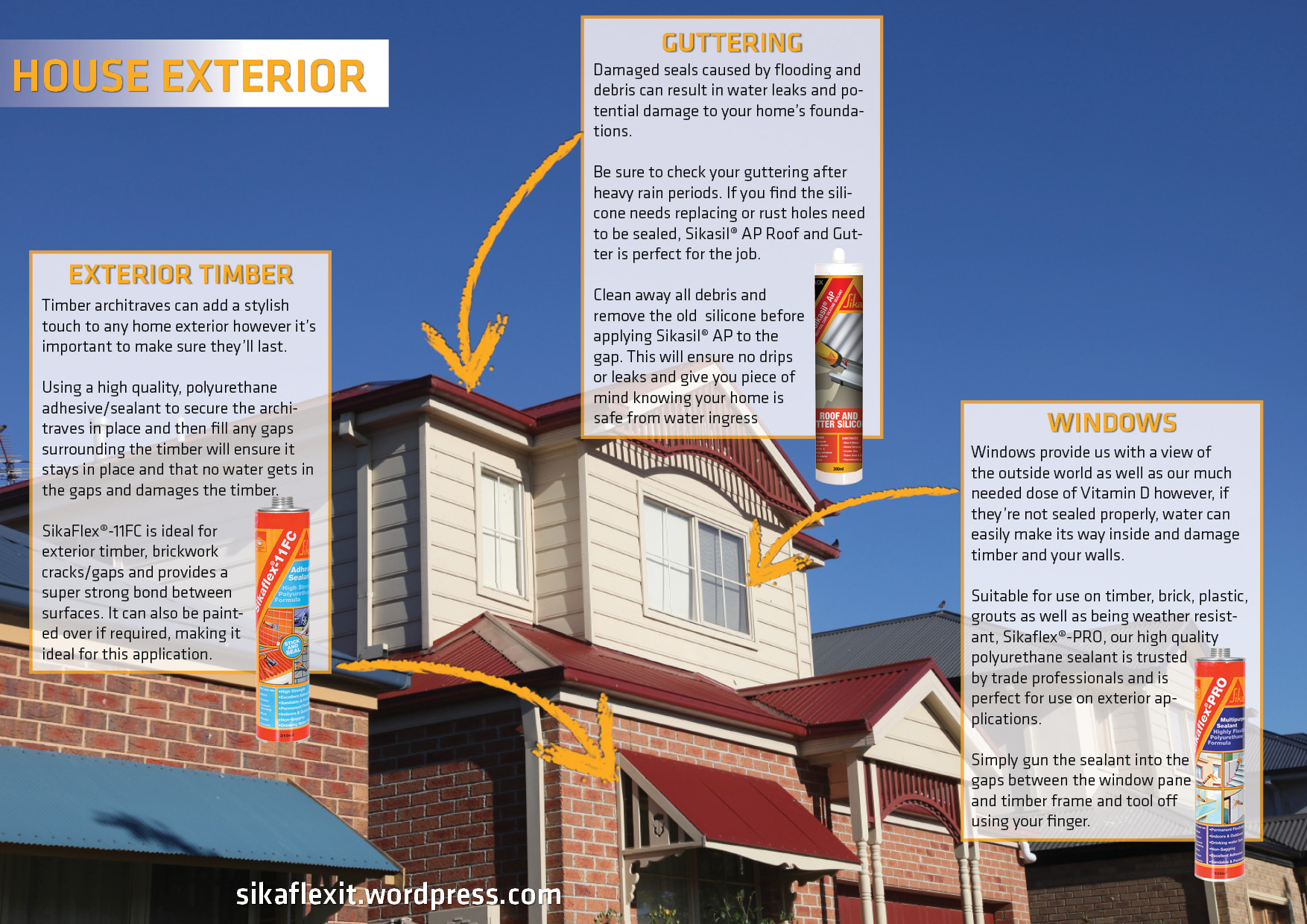 Where to use sika products on your house exterior sika - What kind of caulk for exterior windows ...